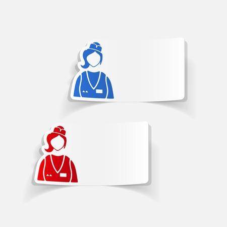 saleswoman: realistic design element. saleswoman Illustration