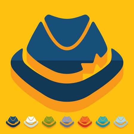 fashion story: Flat design: hat Illustration