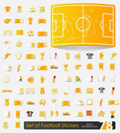 showground: Set of football stickers