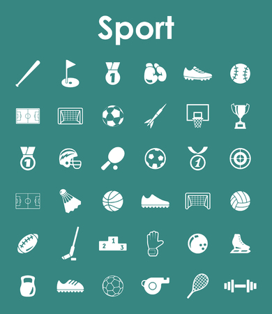 It is a set of sport simple web icons