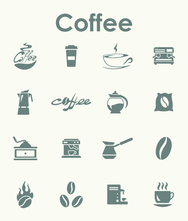 machine shop: It is a set of coffee simple web icons