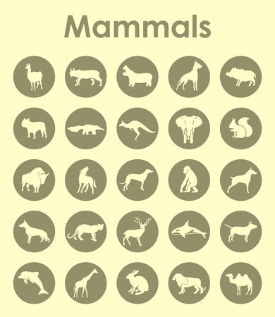 mammals: It is a set of mammals simple web icons