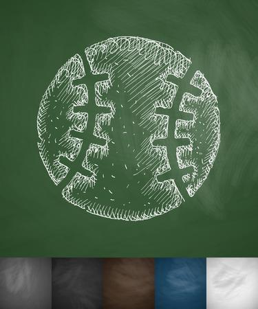 baseball game: baseball icon. Hand drawn vector illustration. Chalkboard Design Illustration