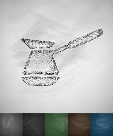 turk: turk icon. Hand drawn vector illustration. Chalkboard Design Illustration