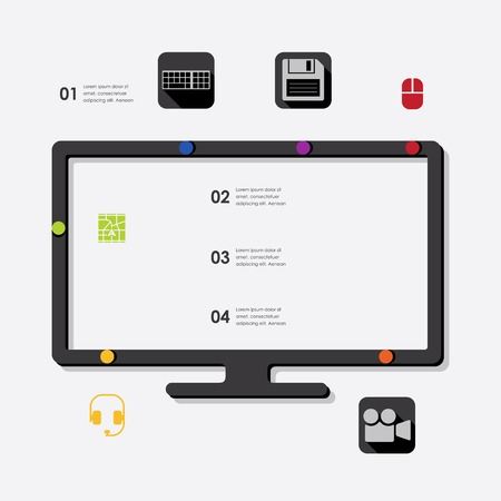 learning icon: technology infographic