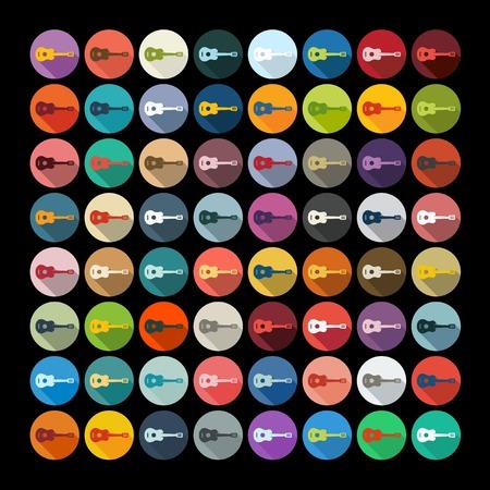 repertoire: Platte ontwerp: gitaar Stock Illustratie
