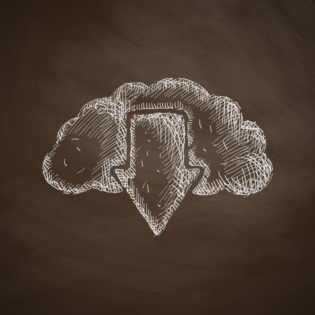 drawing board: cloud icon Illustration