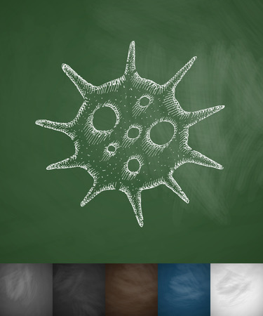 sterilization: virus icon. Hand drawn vector illustration. Chalkboard Design Illustration