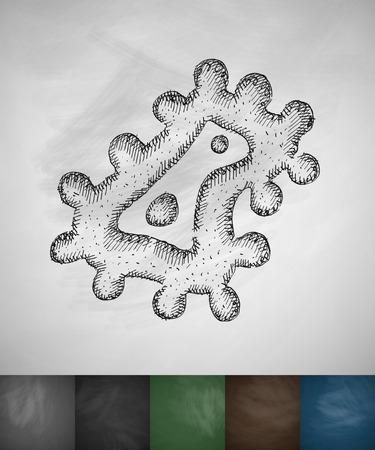 microbe: microbe icon. Hand drawn vector illustration. Chalkboard Design