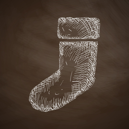sock: christmas sock icon