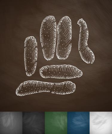 organisms: organisms icon. Hand drawn vector illustration. Chalkboard Design