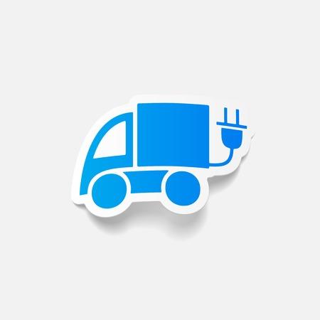 eco car: realistic design element: eco car Illustration