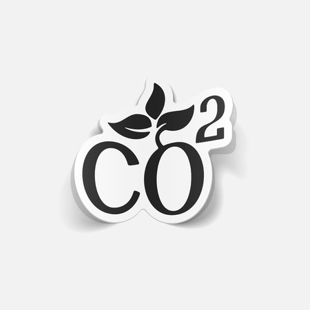 ecologist: realistic design element: co2 sign dioxide