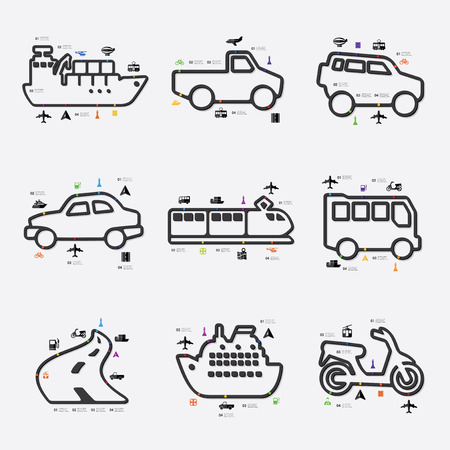 fully editable: transport line infographic illustration. Fully editable vector file Illustration