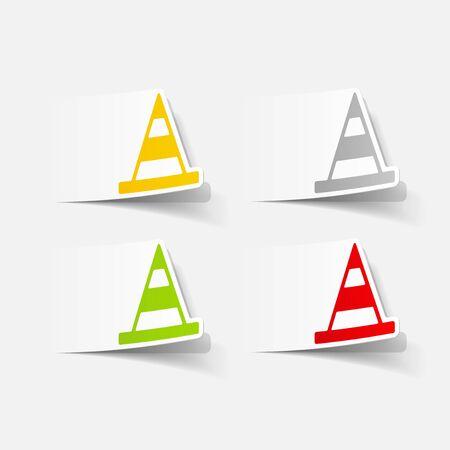 steady: realistic design element: road cones Illustration