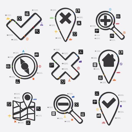 hint: navigation infographic Illustration