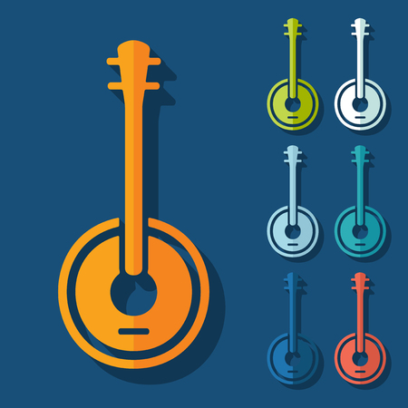 bluegrass: Flat design: banjo Illustration