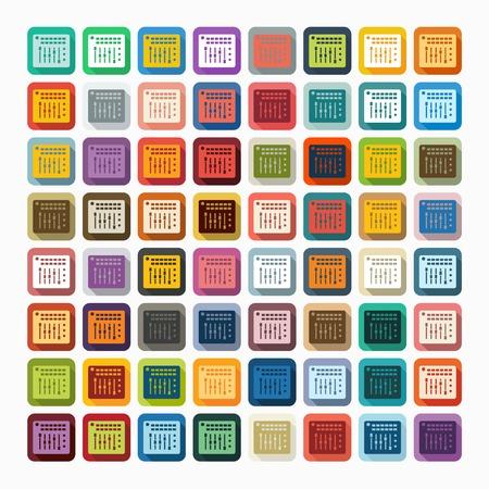 mixing board: Flat design: mixer controller