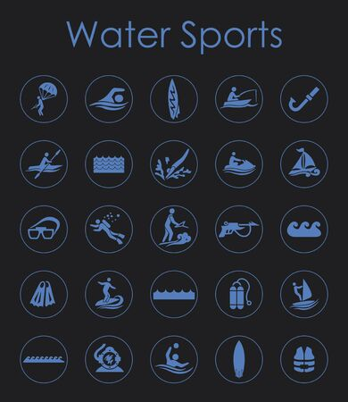 water sports: It is a set of water sports simple web icons