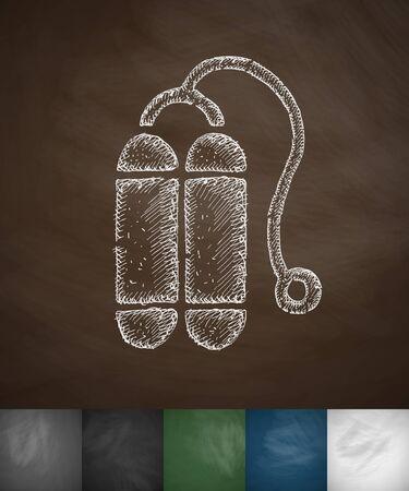 balloons for diving icon. Hand drawn vector illustration. Chalkboard Design Illustration