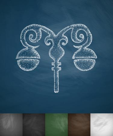 streetlight: streetlight icon. Hand drawn vector illustration. Chalkboard Design