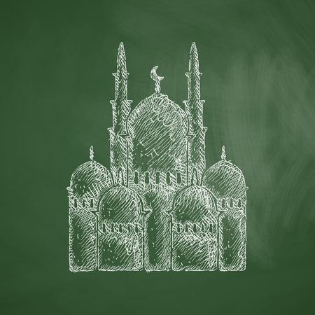 lithography: mosque icon