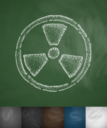 toxicity: symbol of toxicity icon. Hand drawn vector illustration. Chalkboard Design Illustration