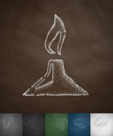 ampoule: burner icon. Hand drawn vector illustration. Chalkboard Design Illustration