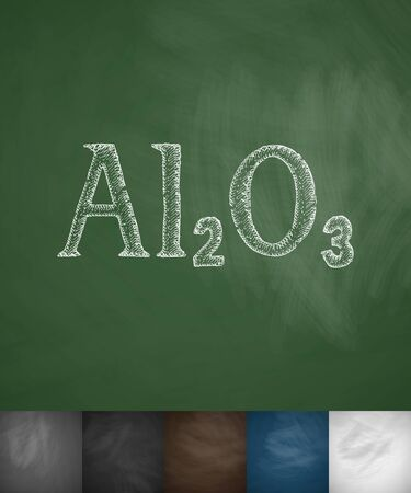 alumina: alumina icon. Hand drawn vector illustration. Chalkboard Design