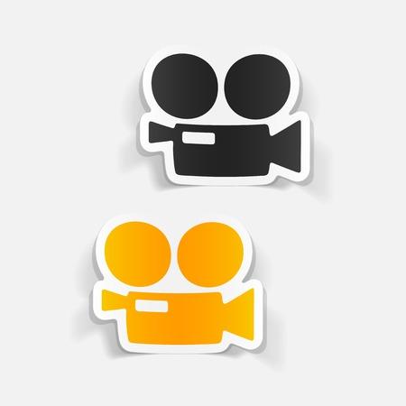 camara de cine: realista elemento de dise�o: C�mara de pel�cula