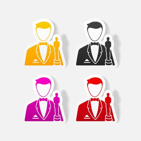 professionalism: realistic design element. actor Illustration