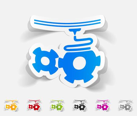 three d: realistic design element. three d printer Vettoriali
