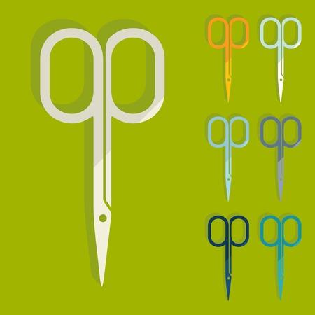 nail scissors: Flat design: nail scissors