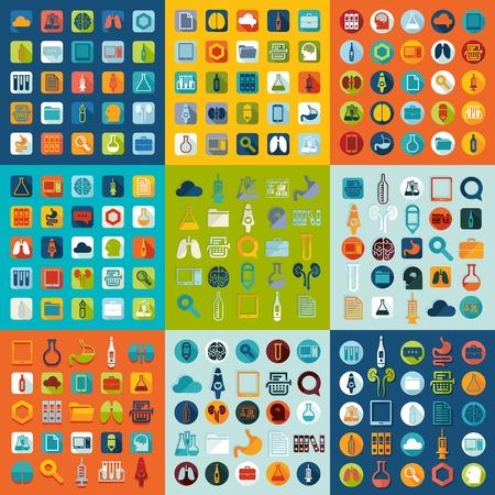 s�mbolo de la medicina: Conjunto de iconos de la medicina