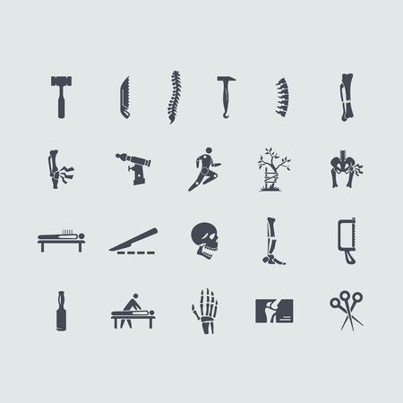 orthop�die: ensemble de vecteur de l'orthop�die de simples ic�nes modernes