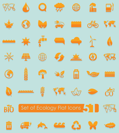 climate: Set of ecology flat icons for Web and Mobile Applications