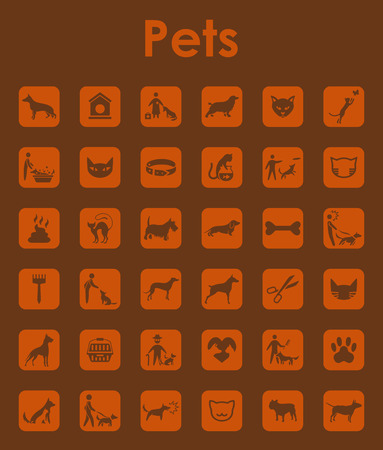 barking: It is a set of pets simple web icons