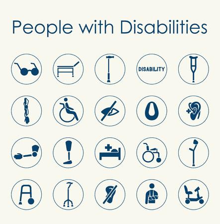 그것은 장애가있는 사람들의 집합입니다 간단한 웹 아이콘 스톡 콘텐츠 - 43449668