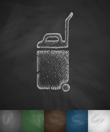 baggage: baggage icon. Hand drawn vector illustration. Chalkboard Design Illustration
