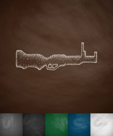 special education: rifle icon. Hand drawn vector illustration. Chalkboard Design Illustration