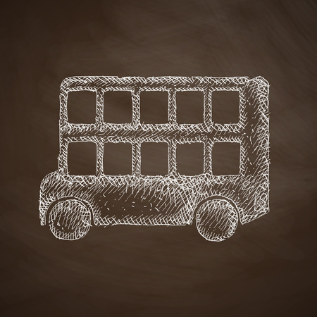 decker: bus double decker icon Illustration