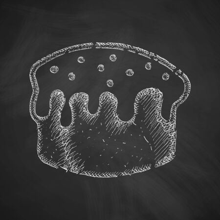 solemn: easter cakes icon Illustration