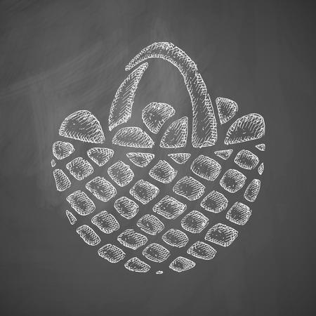 easter basket: easter basket icon