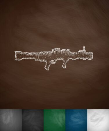 launcher: launcher icon. Hand drawn vector illustration. Chalkboard Design Illustration