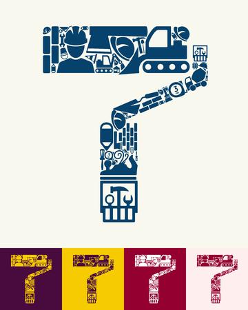 farbrolle: Darstellung der Farbroller mit Symbolen Zusammensetzung