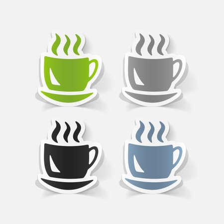 cheerfulness: realistic design element: coffee