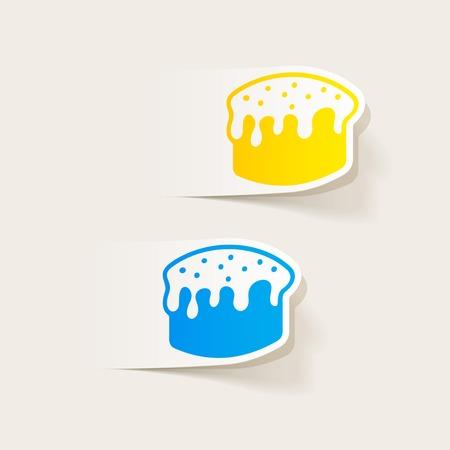 solemn: realistic design element: easter cakes