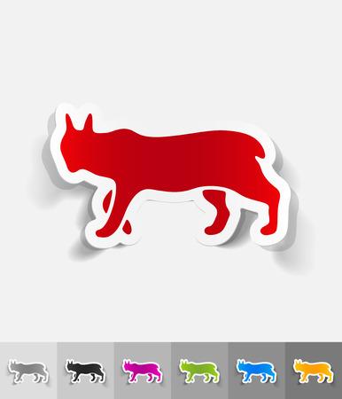 viviparous: lynx paper sticker with shadow. Vector illustration