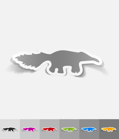 viviparous: skunk paper sticker with shadow. Vector illustration Illustration