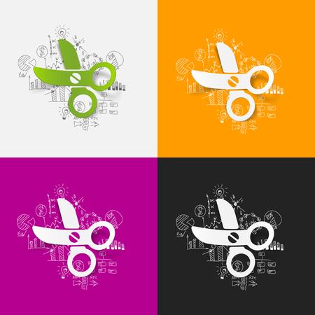formulas: Drawing business formulas: scissors